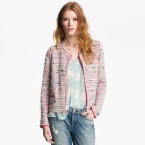 Willow & Clay 'Shine' Rainbow Bouclé Jacket